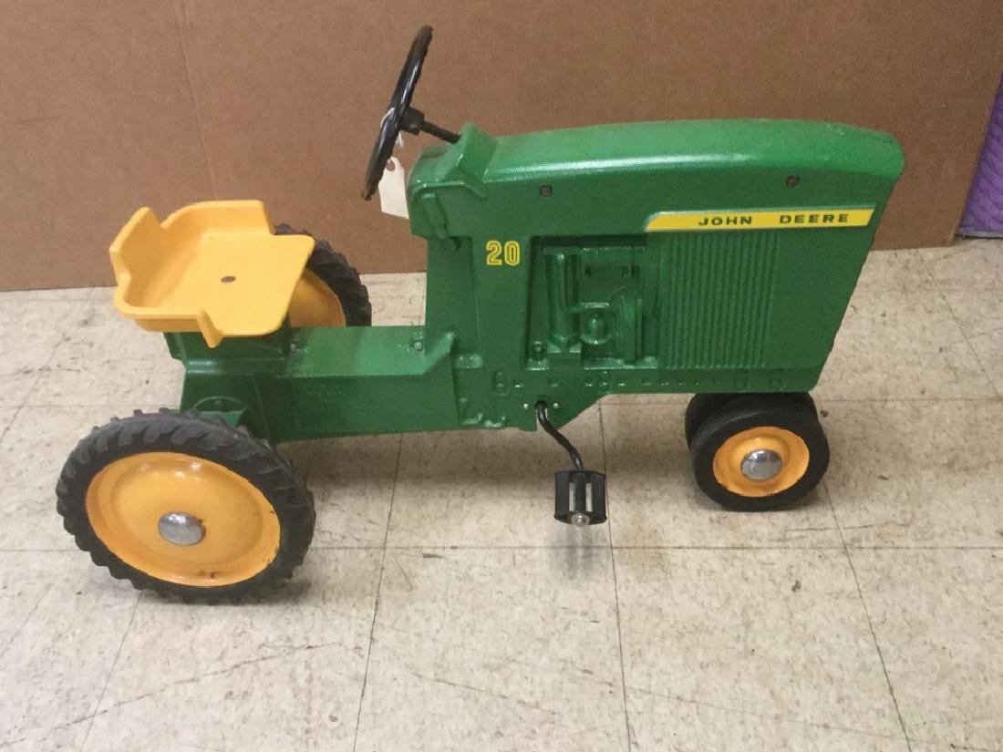 RESTORED JOHN DEERE PEDAL TRACTOR, FROM PEDAL CAR