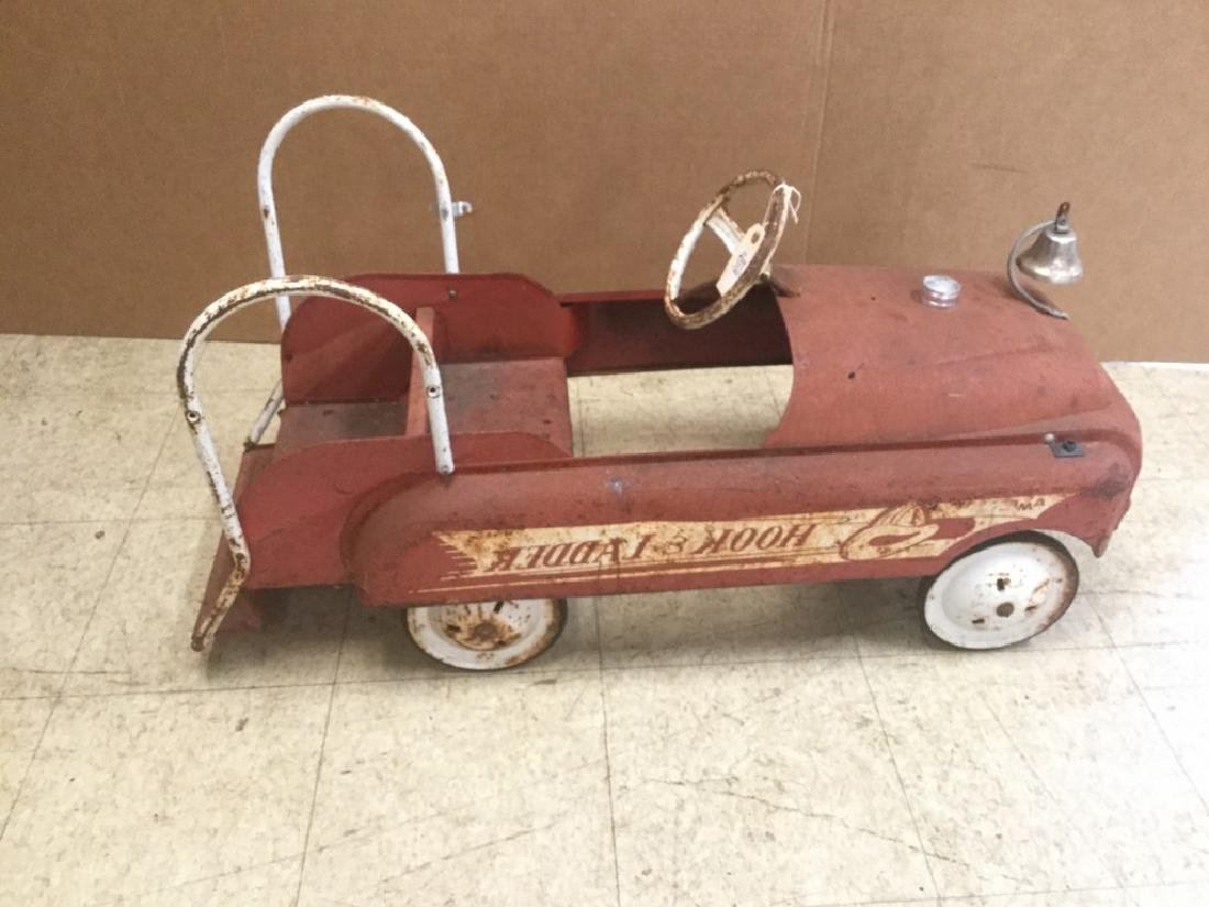 AMF HOOK AND LADDER FIRE ENGINE PEDAL CAR, FROM PEDAL