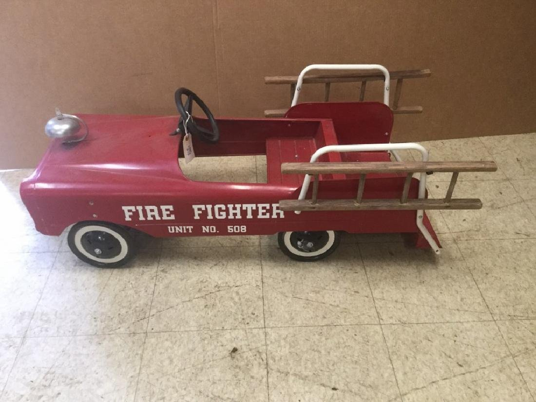 FIRE FIGHTER UNIT #508 PEDAL FIRE ENGINE, FROM PEDAL