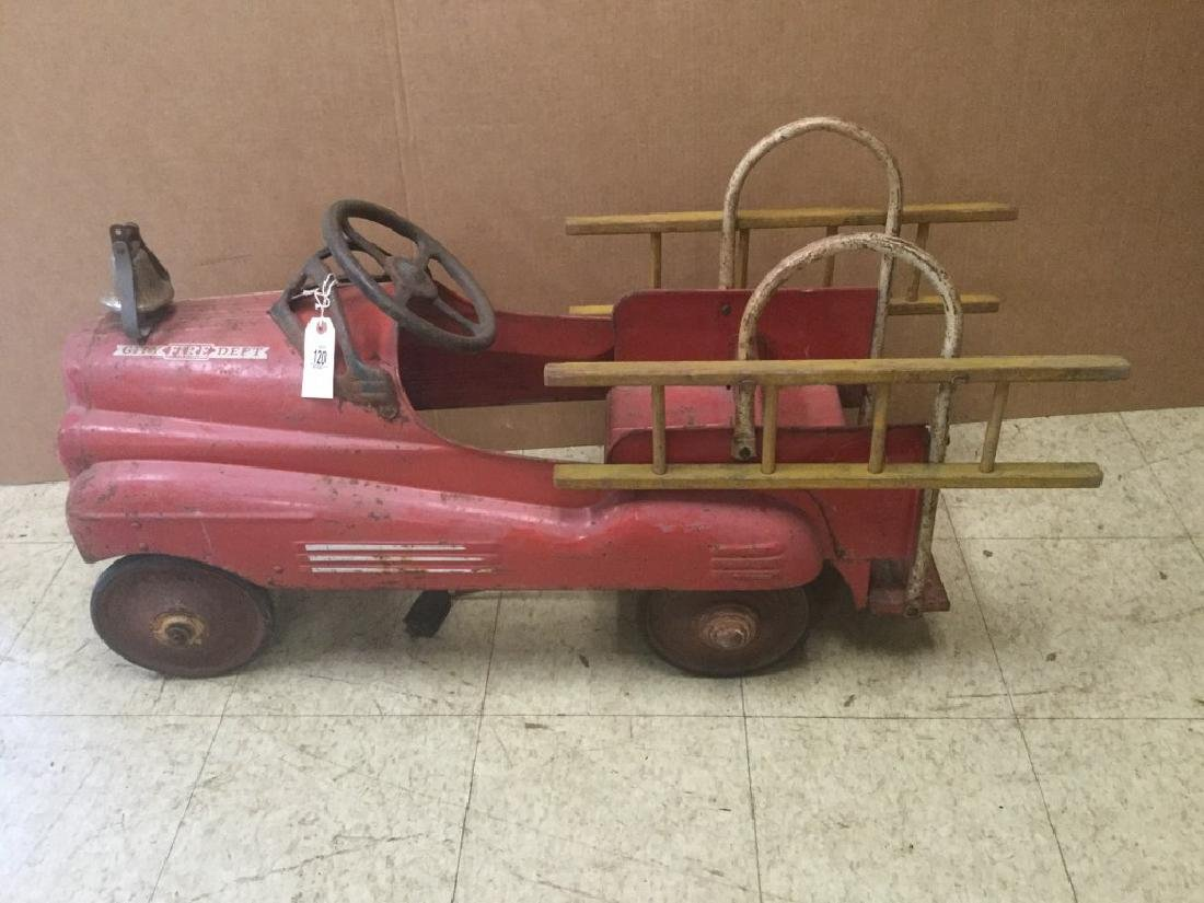 FIRE CHIEF PEDAL CAR, CIRCA 1940, FROM PEDAL CAR