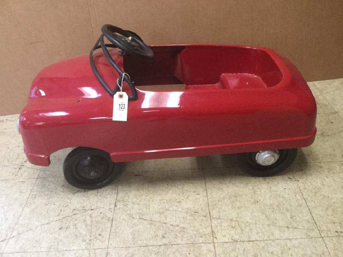 OLDER RESTORED PEDAL CAR, FROM PEDAL CAR COLLECTION, AS