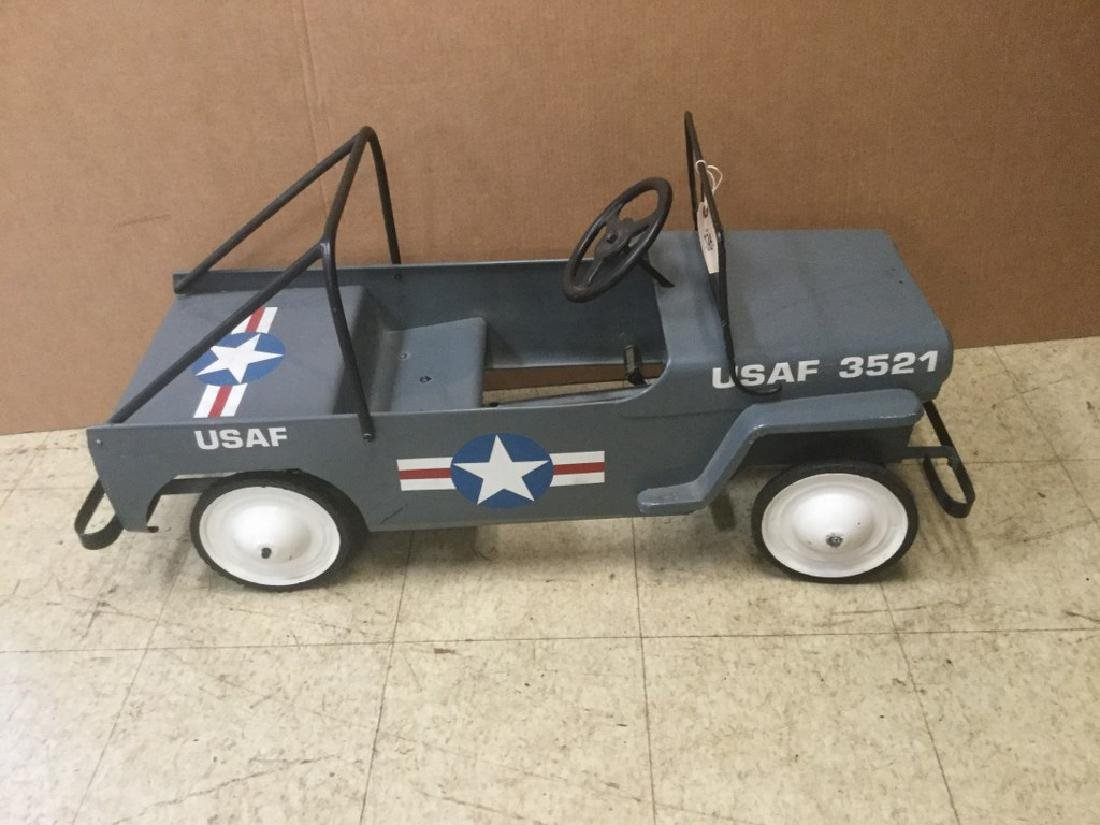 AIR FORCE JEEP PEDAL CAR, UNUSUAL TO FIND AIR FORCE,