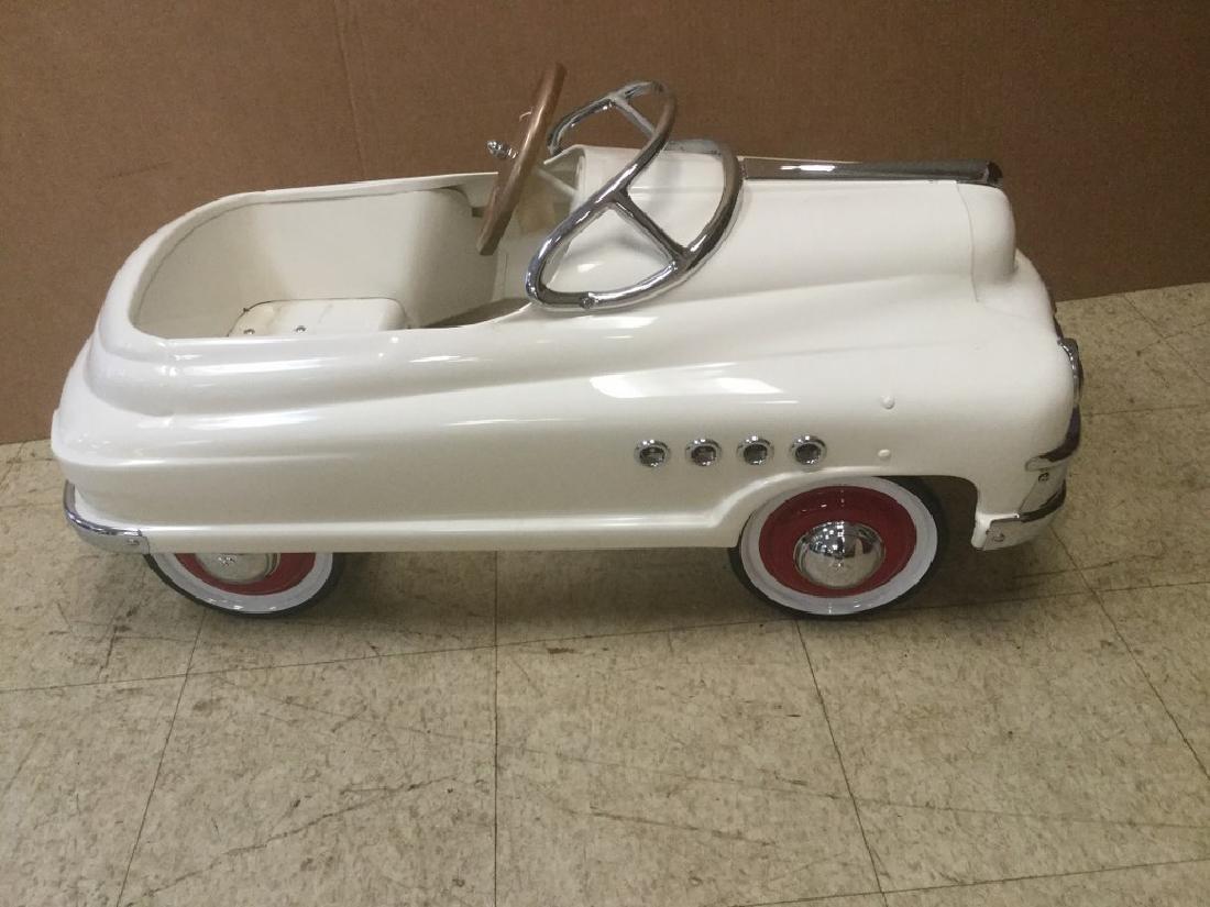 ORIGINAL PORT HOLE BUICK PEDAL CAR, PROFESSIONALLY