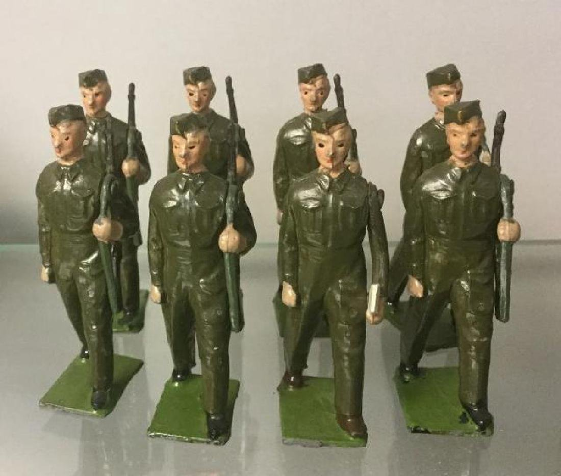 BRITAINS SOLDIERS-8 PCS 1940'S WWII HOME GUARD MARCHING