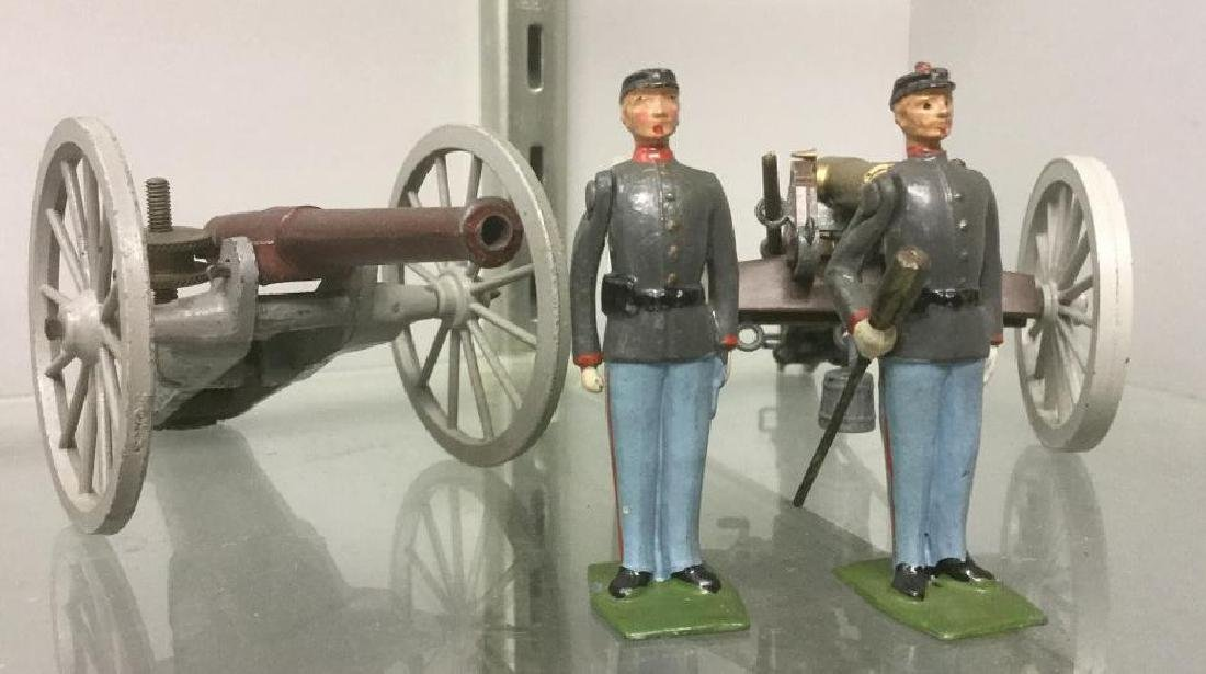 BRITAINS SOLDIERS- 4 PCS 1863 CONFEDERATE FIELD