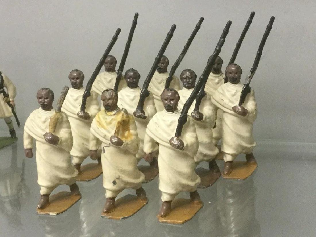 BRITAINS SOLDIERS- 10 PCS ETHIOPIAN TRIBESMEN 1930'S,