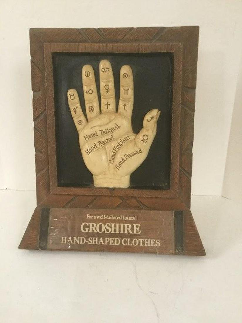GROSHIRE HAND SHAPED CLOTHES TABLETOP ADVERTISING