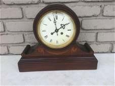 TIFFANY & CO ROSEWOOD MANTLE CLOCK W/INLAY, HAS
