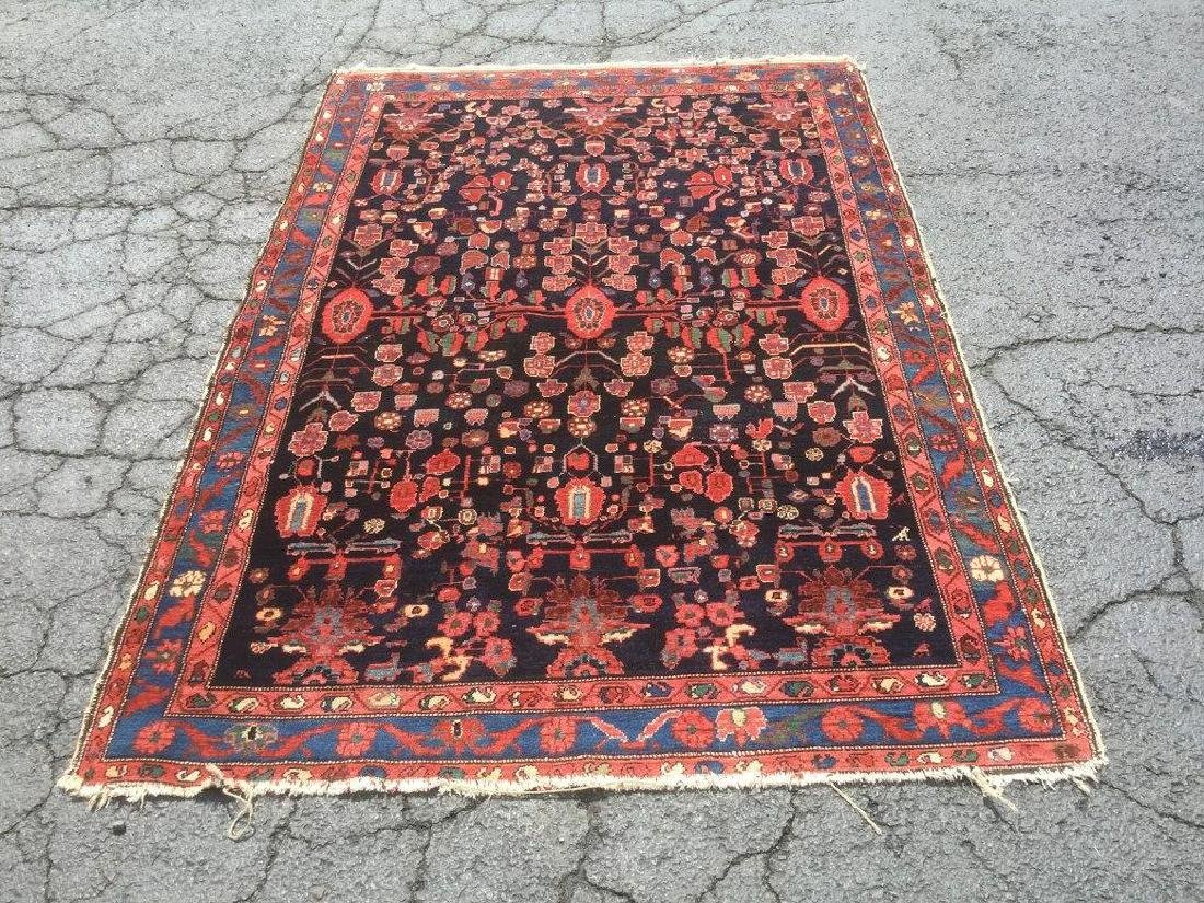 VERY NICE OLDER ORIENTAL SCATTER RUG, VIBRANT COLOR,