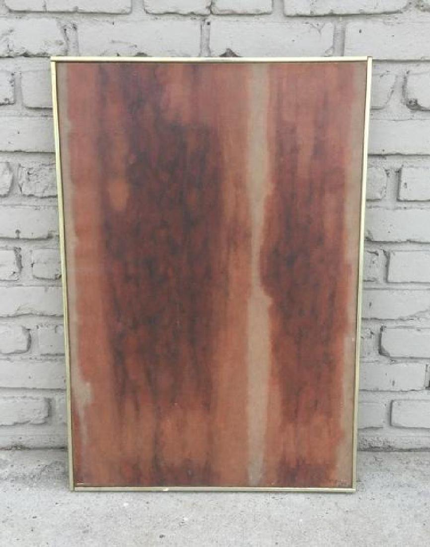 MID CENTURY O/C ABSTRACT SIGNED VIGNES 1961, IN FRAME