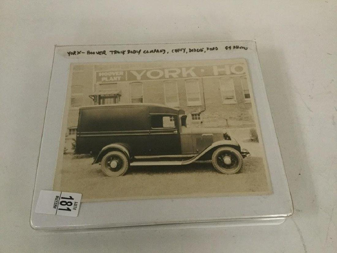 ALBUM OF 54 EARLY YORK-HOOVER TRUCK BODY COMPANY 8 X 10