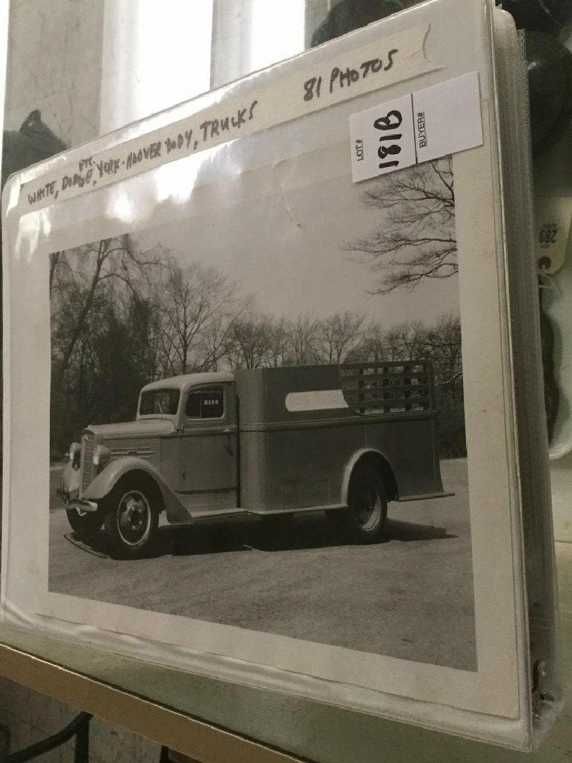 ALBUM OF 81 EARLY YORK-HOOVER TRUCK BODY COMPANY 8 X 10