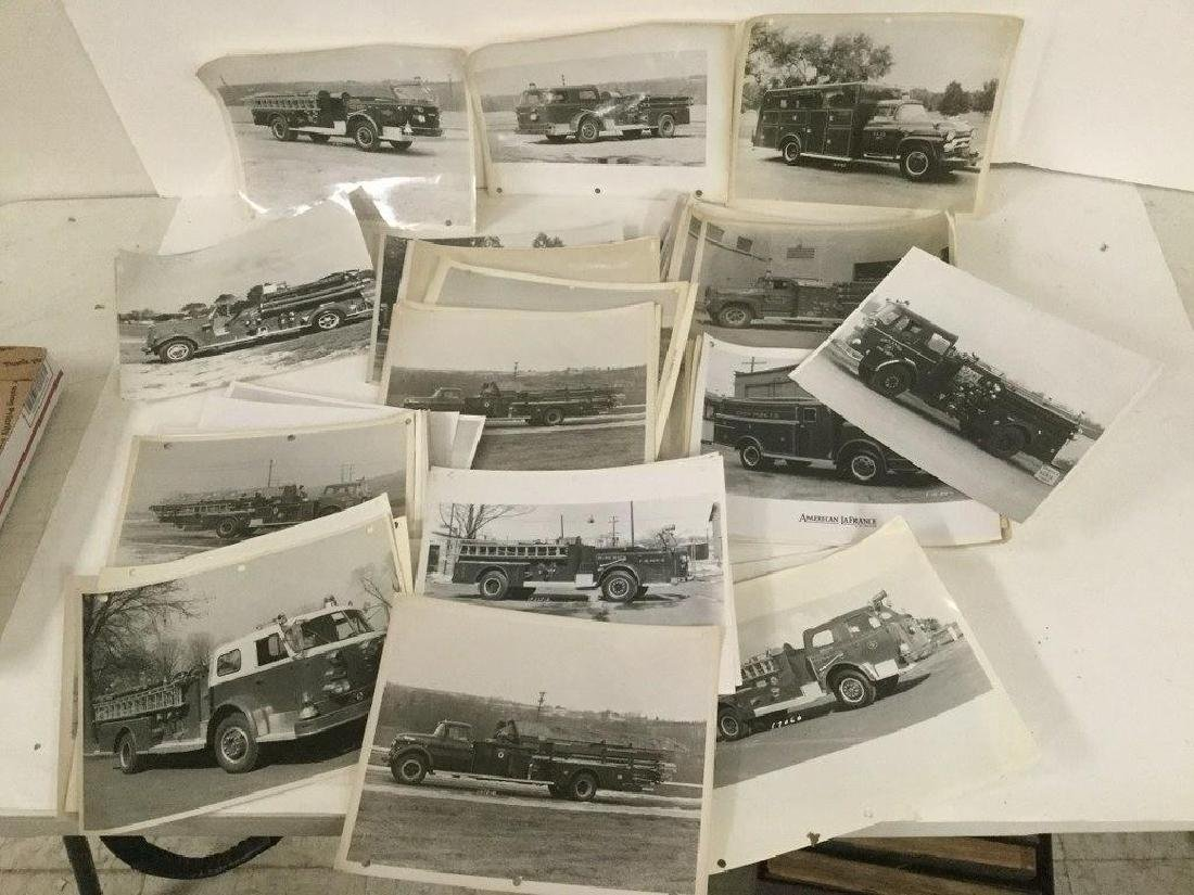 68 EARLY 8 X 10 PHOTOS OF FIRE TRUCKS AND FIRE RELATED