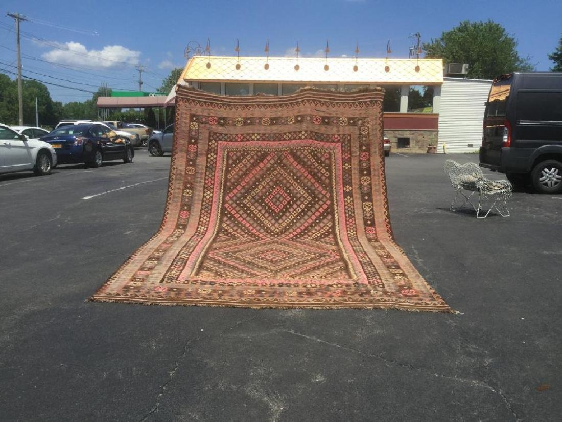 LARGE KILIM HAND MADE RUG, VERY NICE CONDITION,