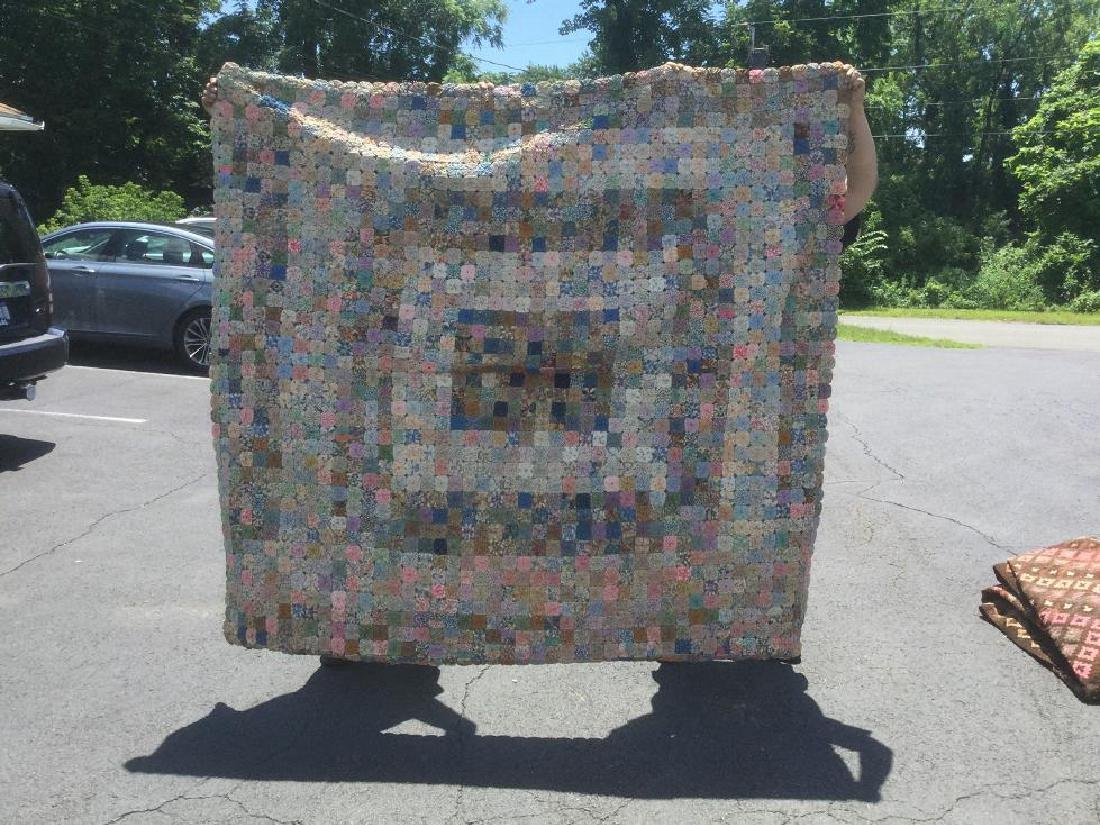 ANTIQUE YO YO QUILT, NICE CONDITION, FROM LOCAL