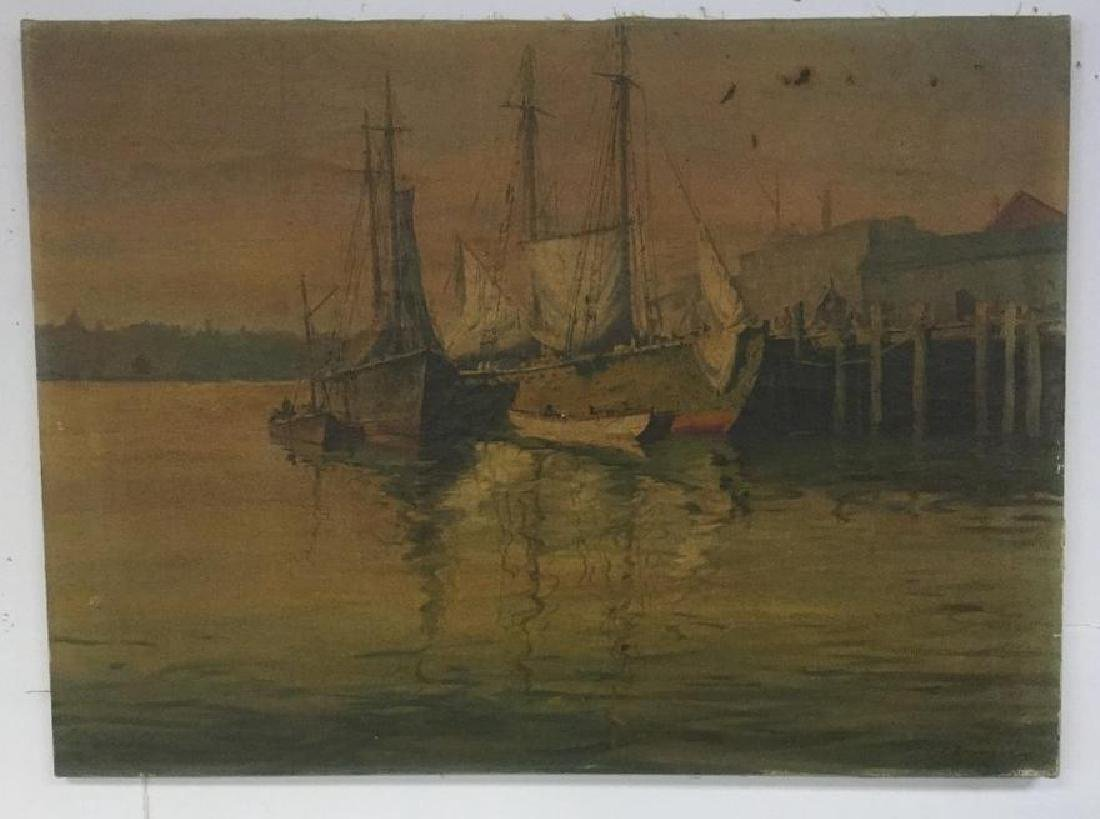 J J ENRIGHT O/C SAILBOATS DOCKED, IN NEED OF CLEANING,