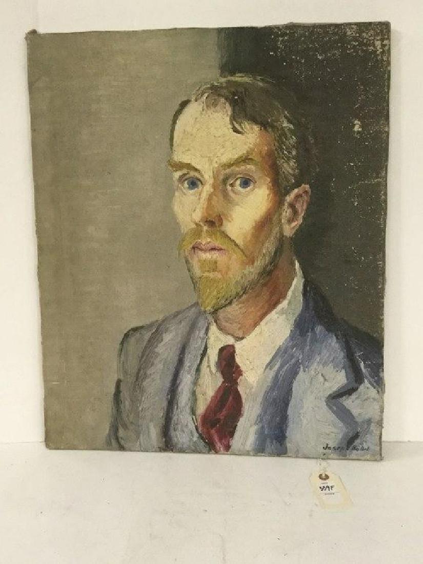 JOSPEH POLLET CIRCA 1930'S SELF PORTRAIT, SIGNED LOWER