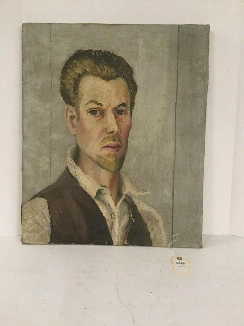 JOSEPH POLLET CIRCA 1930'S SELF PORTRAIT, IN AS IS