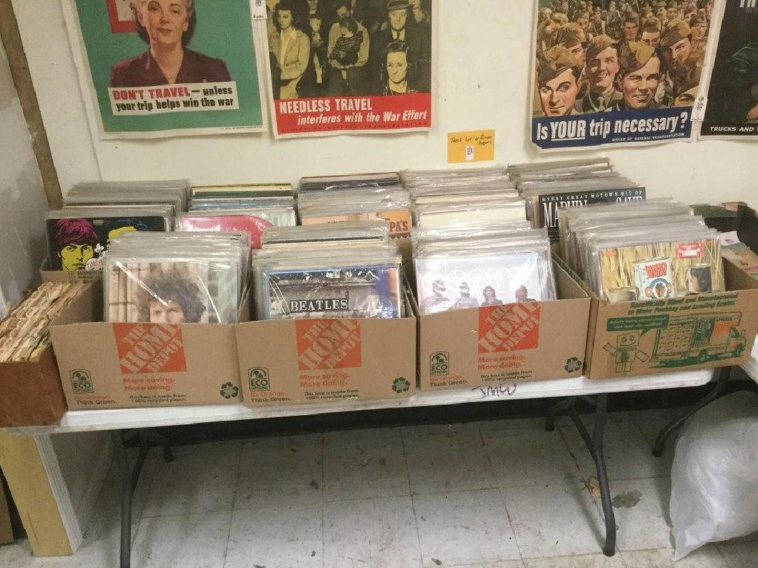 TABLE LOT OF LIFETIME COLLECTION OF RECORD ALBUMS,