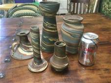 (5) PCS. NILOAK ART POTTERY IN NICE CONDITION, SEE NO