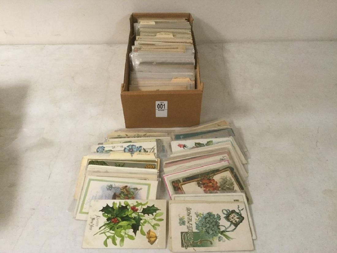 LOT OF APPROX 400-500 POSTCARDS INCLUDING VALENTINE,