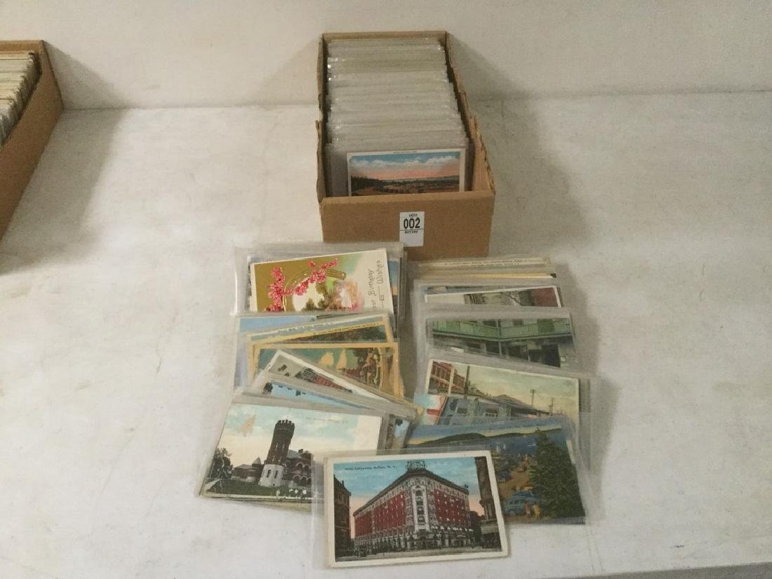 LOT OF APPROX 400-600 POSTCARDS INCLUDING TRAVEL,