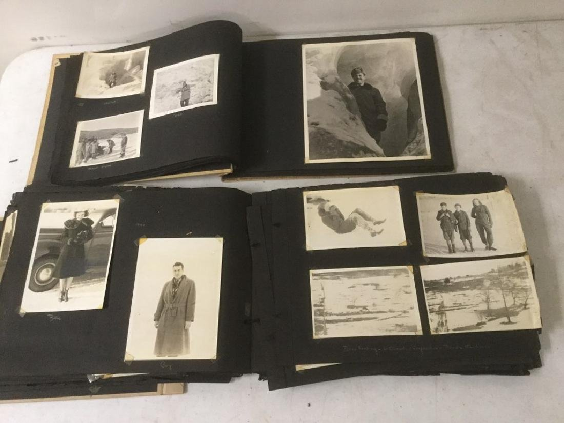 LOT OF 2 PHOTO ALBUMS INCLUDING TRAVEL, MILITARY,