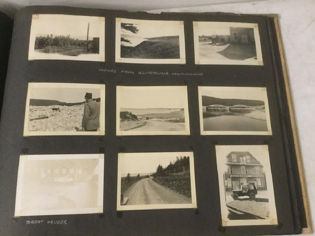 LOT OF 2 PHOTO ALBUMS INCLUDING TRAVEL, MILITARY, - 4