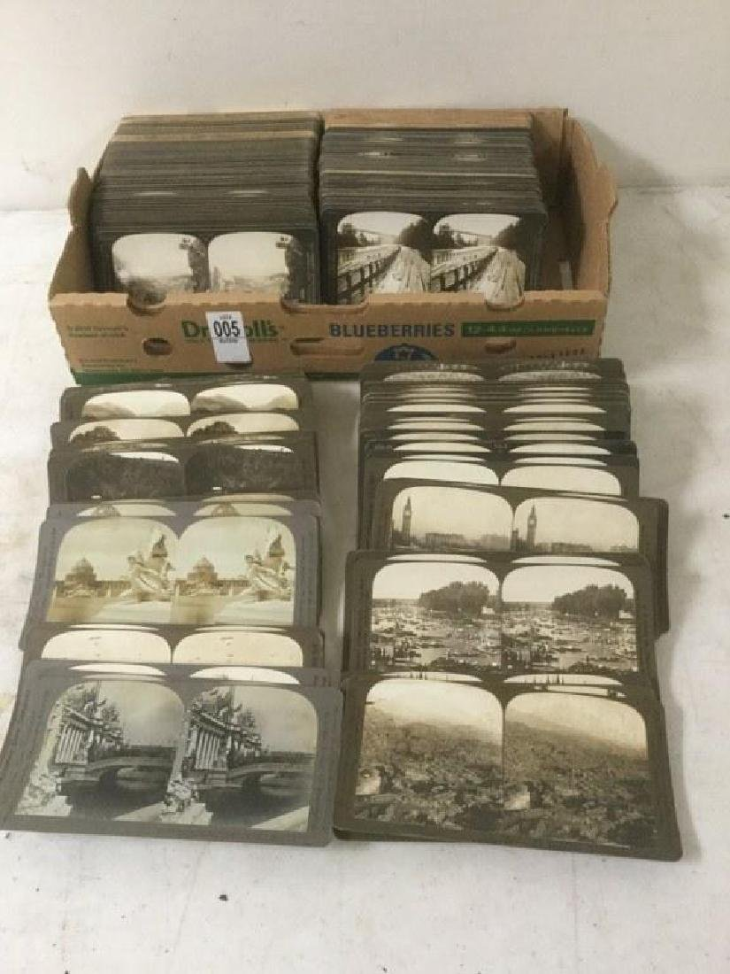 LOT OF 200-300 CURVED MOUNT STEREOVIEW CARDS INCLUDING
