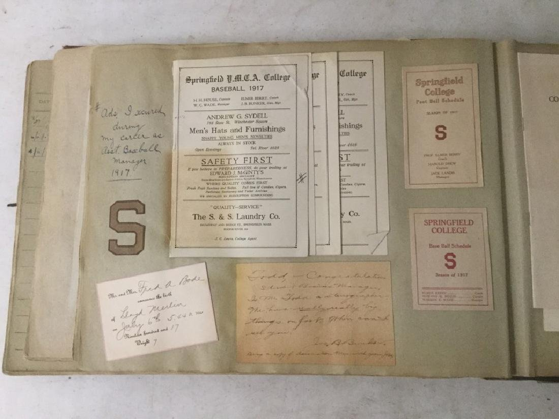 LARGE EARLY PHOTO AND SCRAPBOOK ALBUM, CIRCA 1917, - 10