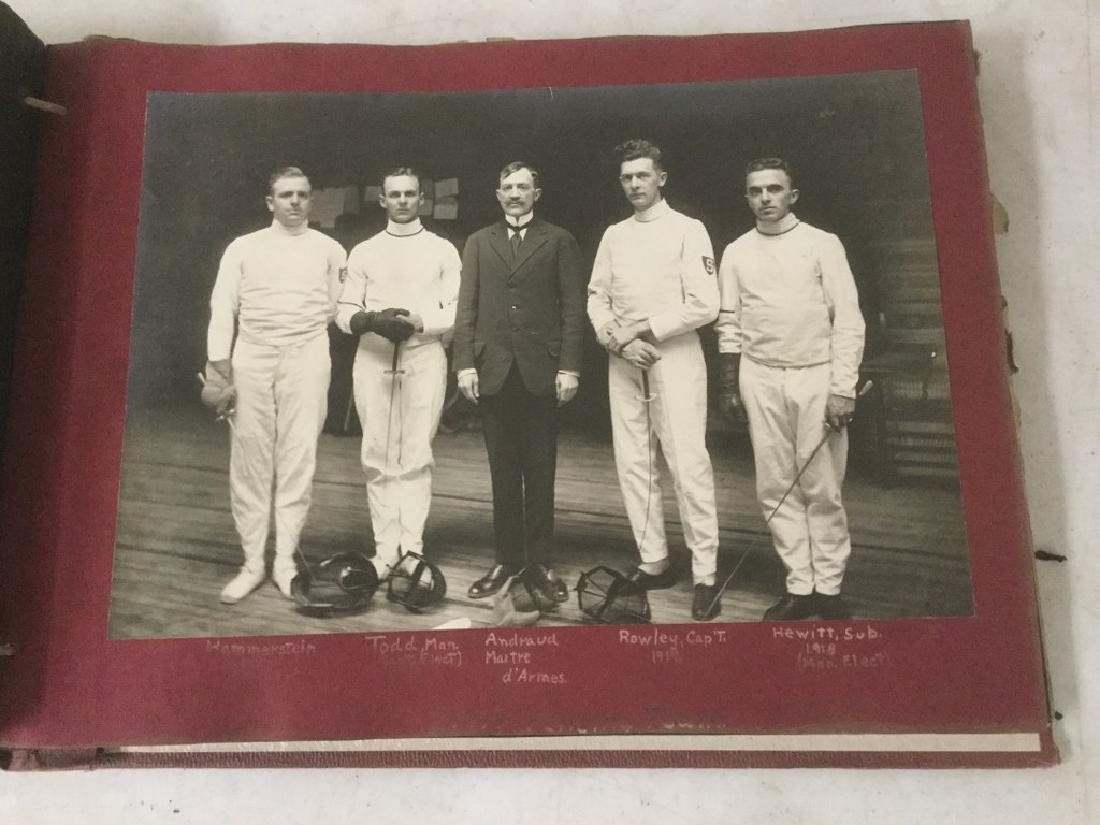LARGE EARLY PHOTO AND SCRAPBOOK ALBUM, CIRCA 1917,