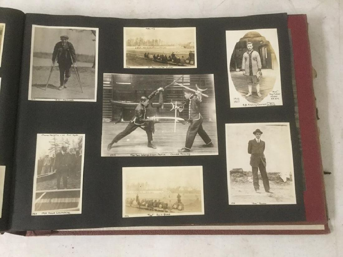 LARGE EARLY PHOTO AND SCRAPBOOK ALBUM, CIRCA 1917, - 2