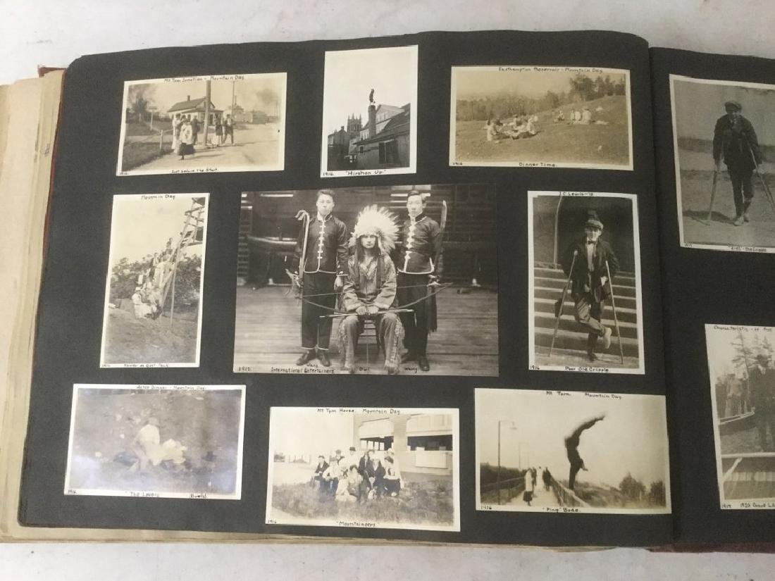 LARGE EARLY PHOTO AND SCRAPBOOK ALBUM, CIRCA 1917, - 3