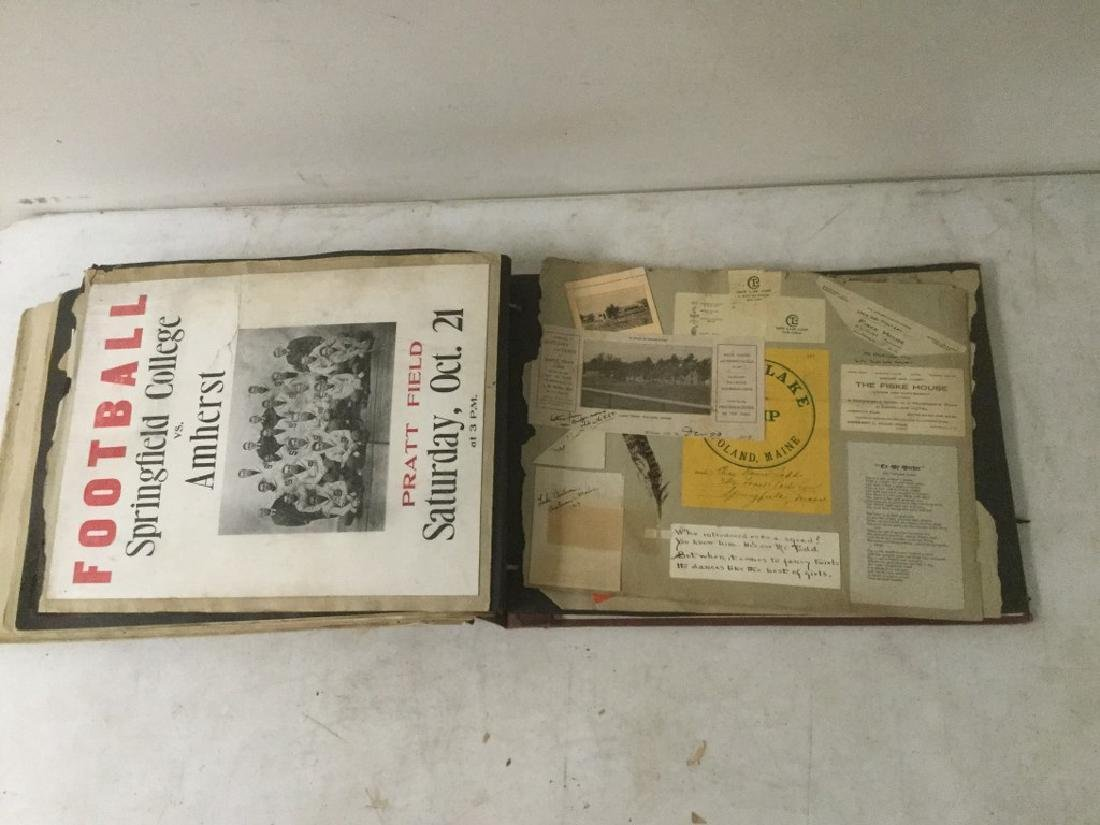 LARGE EARLY PHOTO AND SCRAPBOOK ALBUM, CIRCA 1917, - 4