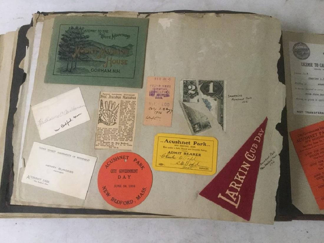 LARGE EARLY PHOTO AND SCRAPBOOK ALBUM, CIRCA 1917, - 5