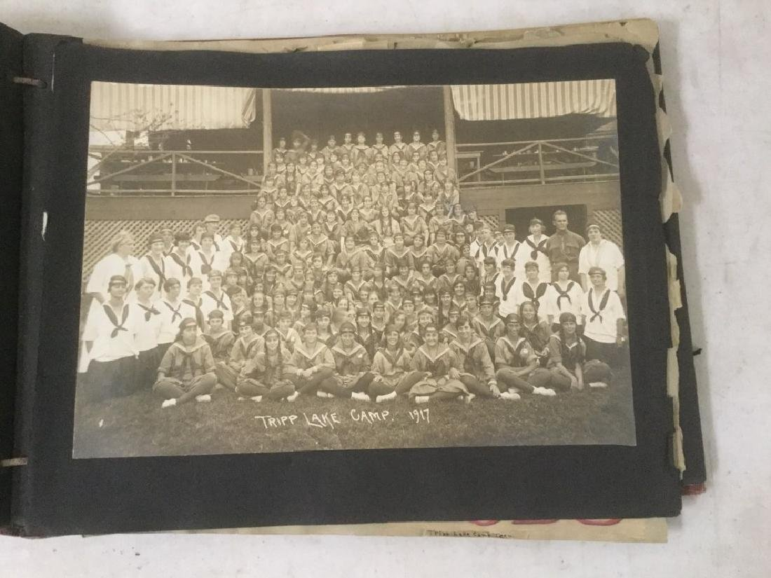LARGE EARLY PHOTO AND SCRAPBOOK ALBUM, CIRCA 1917, - 6