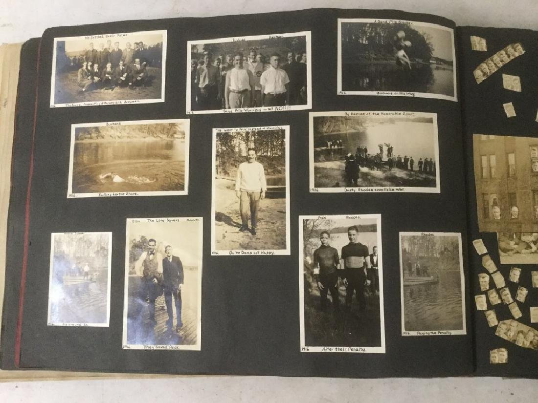 LARGE EARLY PHOTO AND SCRAPBOOK ALBUM, CIRCA 1917, - 7