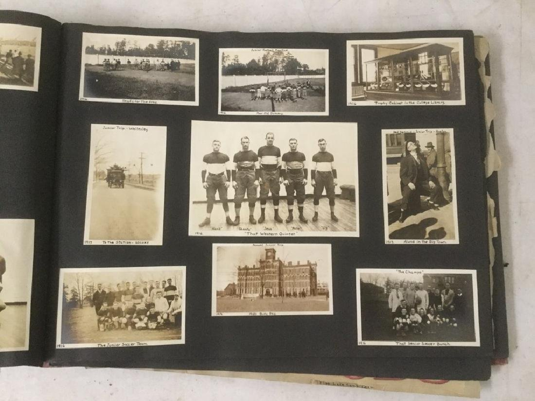 LARGE EARLY PHOTO AND SCRAPBOOK ALBUM, CIRCA 1917, - 8
