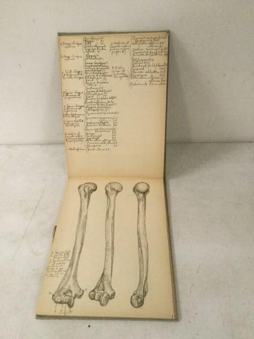 EARLY ACADEMIC ANATOMY SKETCHBOOK, HAND WRITTEN WITH - 3