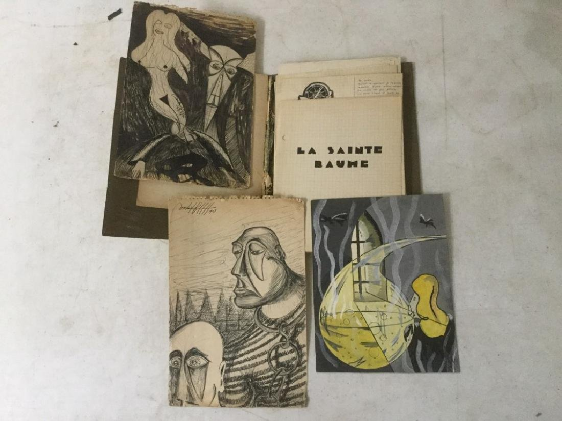 ESTATE LOT OF ROLAND BECH ILLUSTRATIONS AND PARTIAL - 2