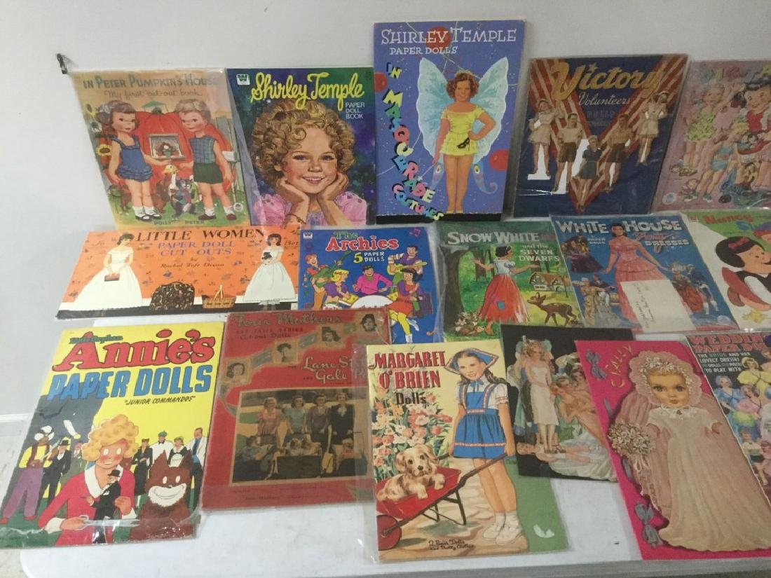 BOXLOT OF 25 PAPER DOLLS AND CUT OUTS, WIDE RANGE OF - 2