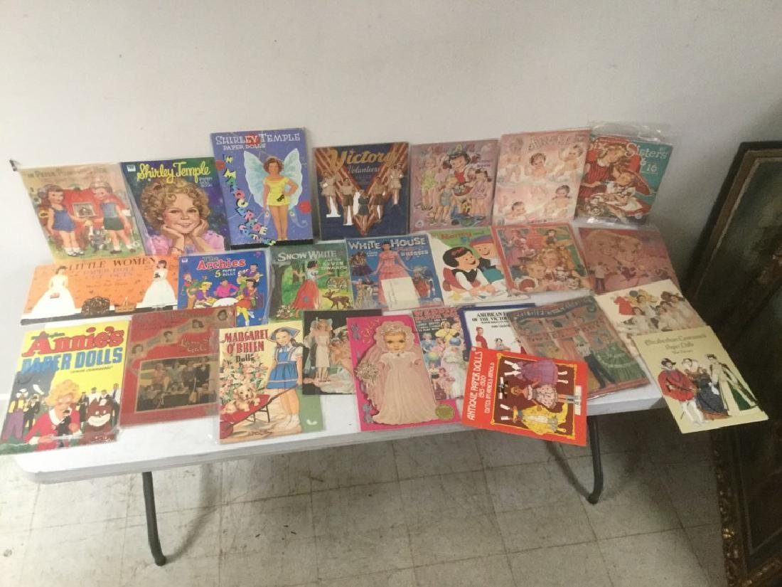 BOXLOT OF 25 PAPER DOLLS AND CUT OUTS, WIDE RANGE OF - 5