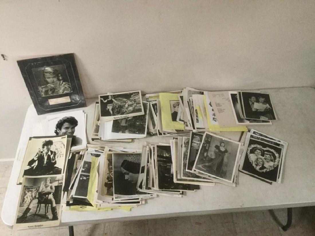 BOXLOT OF 100'S OF VINTAGE MOVIE PRESS PHOTOGRAPHS AND
