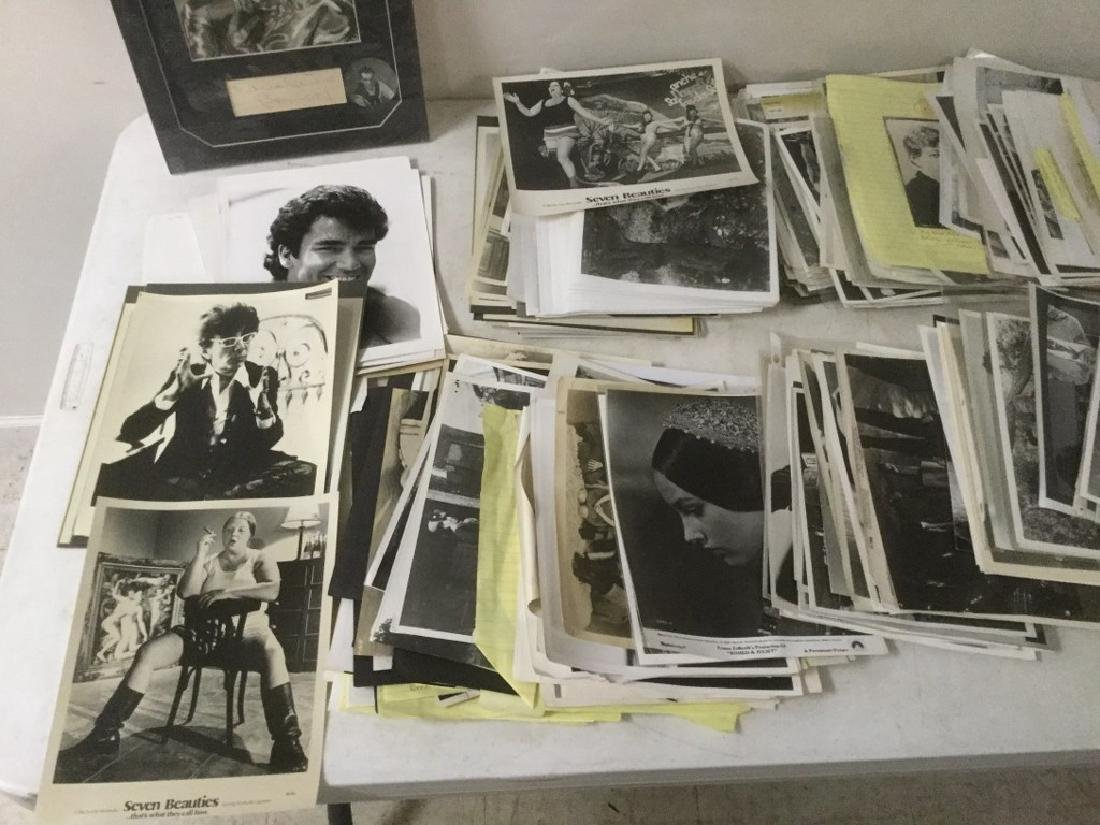 BOXLOT OF 100'S OF VINTAGE MOVIE PRESS PHOTOGRAPHS AND - 2