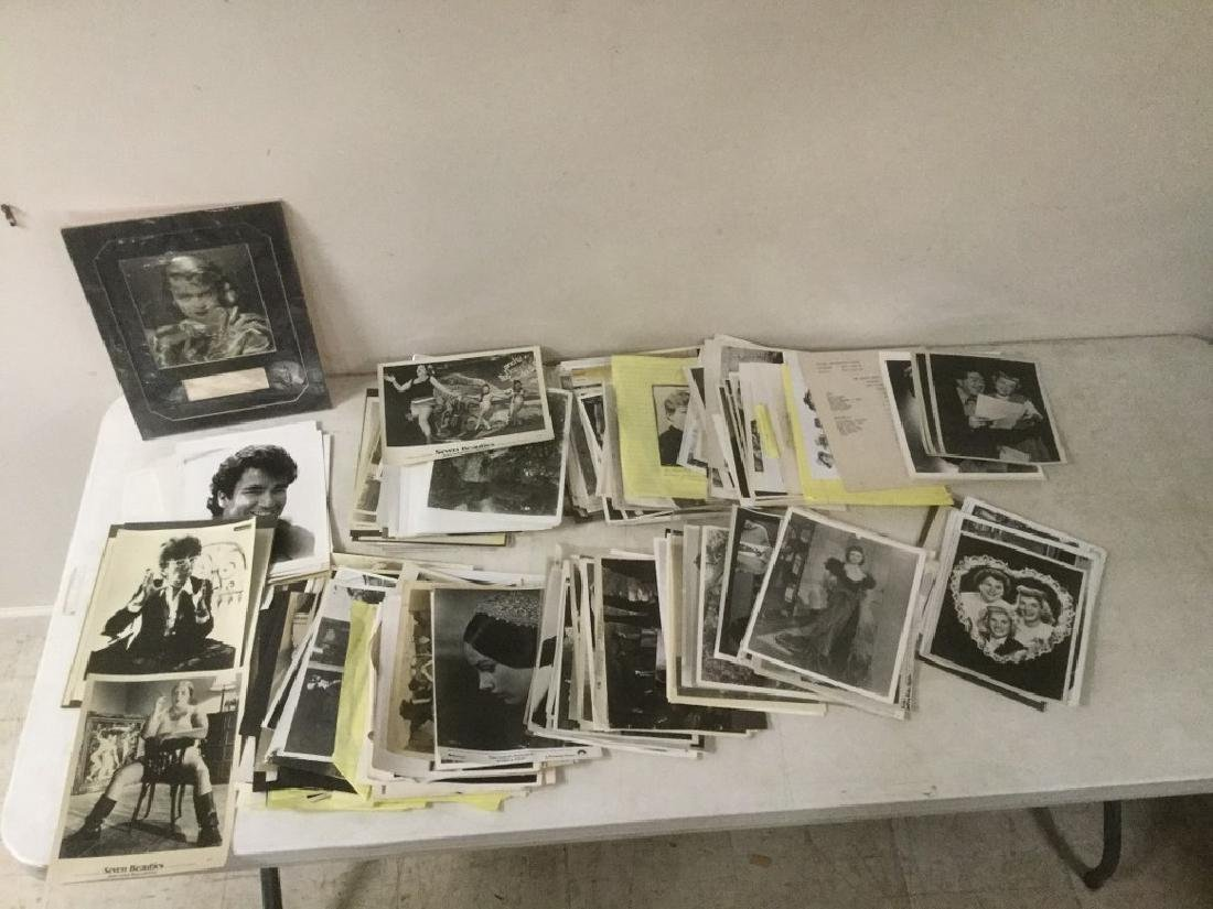 BOXLOT OF 100'S OF VINTAGE MOVIE PRESS PHOTOGRAPHS AND - 9