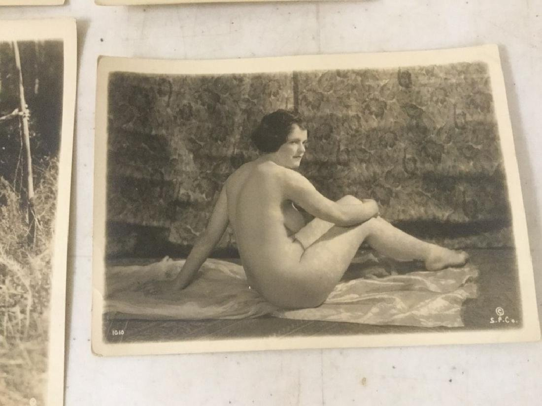 16 CIRCA 1920'S NUDE FEMALE PHOTOGRAPHS, STAMPED ON - 3