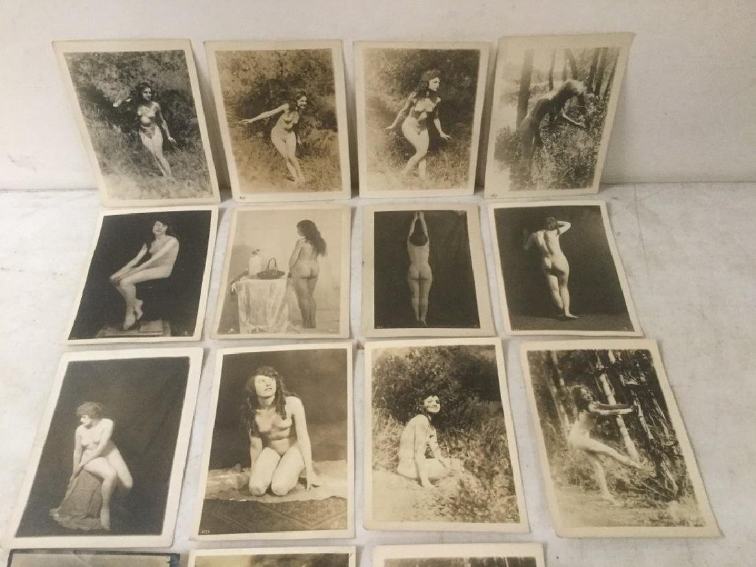 16 CIRCA 1920'S NUDE FEMALE PHOTOGRAPHS, STAMPED ON - 6