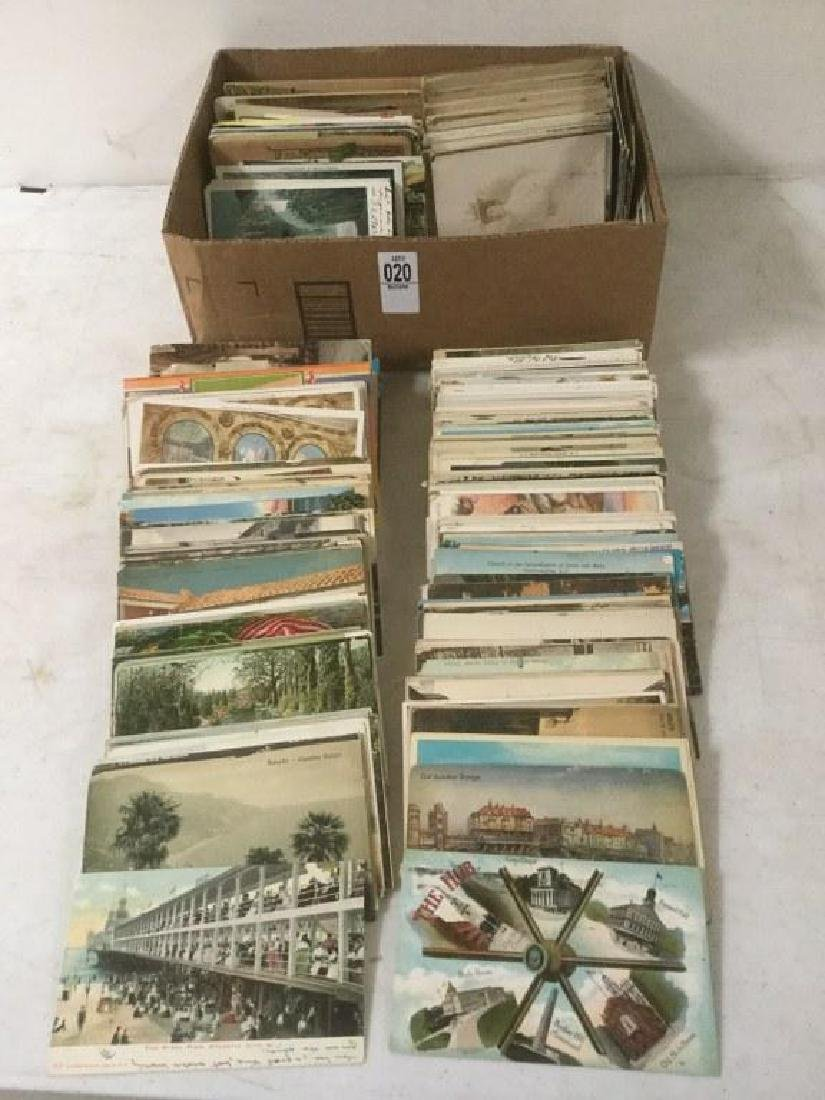 APPROX 400-500 POSTCARDS FROM TURN OF THE CENTURY TO
