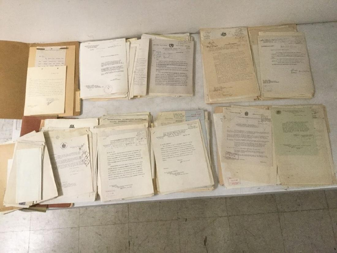 HUGE 1940'S UNITED NATIONS ARCHIVE OF SIGNED
