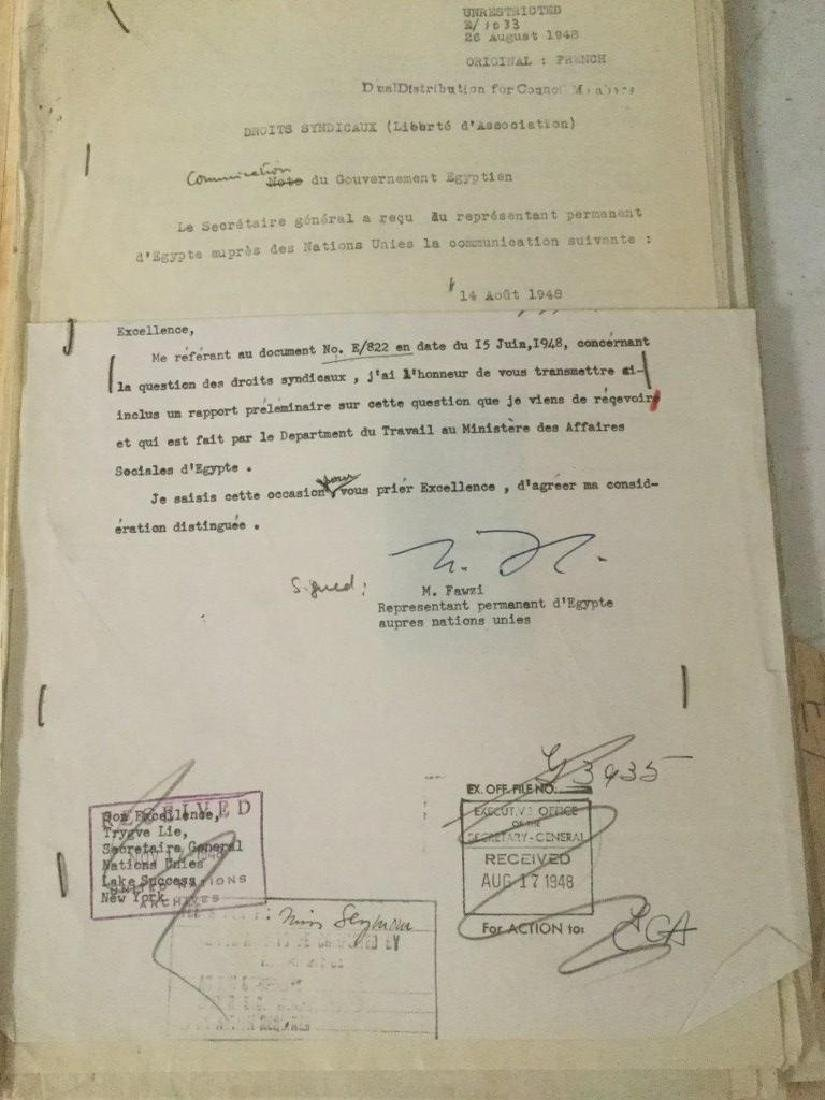 HUGE 1940'S UNITED NATIONS ARCHIVE OF SIGNED - 3